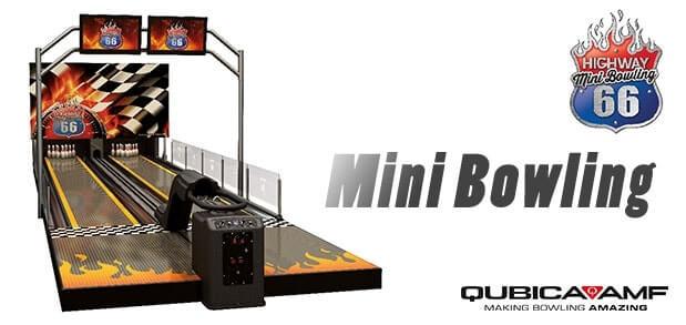route 66 qubica amf mini bowling lanes banner